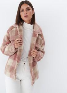 Różowa kurtka Mohito ocieplenie bez kaptura w stylu casual