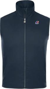 Niebieska kamizelka K-Way w sportowym stylu z dżerseju