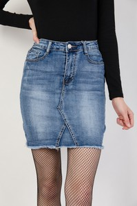 Spódnica Olika mini z jeansu