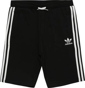 Czarne spodenki dziecięce Adidas Originals w paseczki z dżerseju