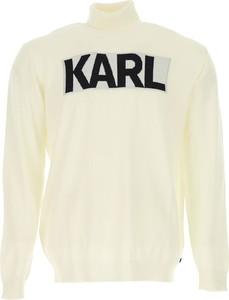 Żółty sweter Karl Lagerfeld
