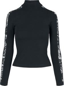 Czarna bluzka Emp w stylu casual z golfem z bawełny