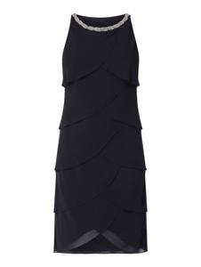 Czarna sukienka Christian Berg Cocktail mini z okrągłym dekoltem bez rękawów