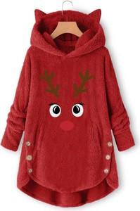 Czerwony płaszcz Kendallme w stylu casual
