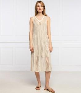 Sukienka Pepe Jeans bez rękawów z dekoltem w kształcie litery v midi