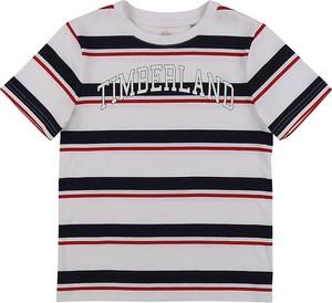 Koszulka dziecięca Timberland w paseczki z bawełny dla chłopców
