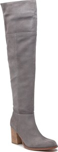 Kozaki Wojas za kolano ze skóry na zamek