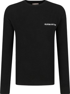 Czarny sweter Guess Jeans