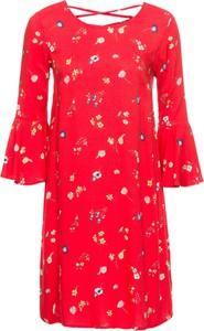 Czerwona sukienka bonprix bodyflirt na co dzień oversize
