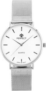 ZEGAREK DAMSKI PERFECT B7304 antyalergiczny (zp852a) silver - Srebrny