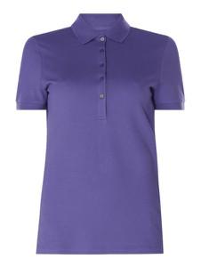 Fioletowa bluzka Christian Berg Women z bawełny z krótkim rękawem w stylu casual