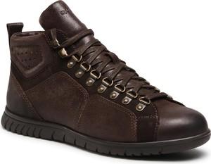 Brązowe buty zimowe Quazi w stylu casual