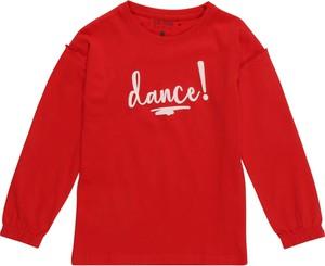 Czerwona bluzka dziecięca Blue Seven z długim rękawem z dżerseju