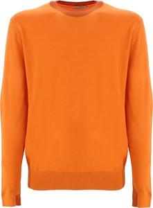 Pomarańczowy sweter Etro w stylu casual z okrągłym dekoltem