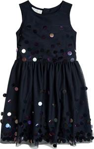 Czarna sukienka dziewczęca Cool Club z tiulu