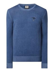 Sweter Aeronautica Militare w stylu casual z bawełny z okrągłym dekoltem