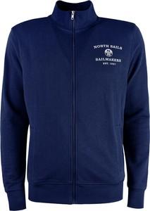 Niebieska bluza ubierzsie.com z bawełny w sportowym stylu