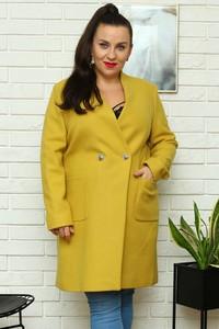 Żółty płaszcz KARKO w stylu casual
