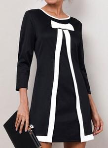 Czarna sukienka Cikelly w stylu casual