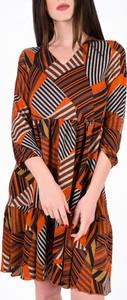 Sukienka Vertus z jeansu mini z dekoltem w kształcie litery v