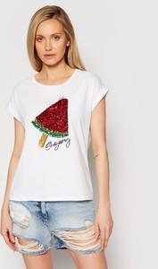 T-shirt Liu-Jo z nadrukiem w młodzieżowym stylu