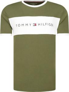 Zielony t-shirt Tommy Hilfiger z krótkim rękawem