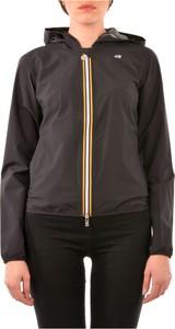 Czarna kurtka K-Way krótka w stylu casual