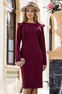 Sukienka Style z długim rękawem mini ołówkowa