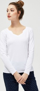 Bluzka Moodo z długim rękawem z bawełny w stylu casual