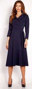 Granatowa sukienka Lou-Lou z dekoltem w kształcie litery v