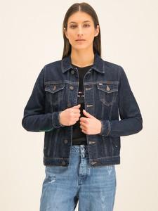 Granatowa kurtka Tommy Jeans krótka w stylu casual