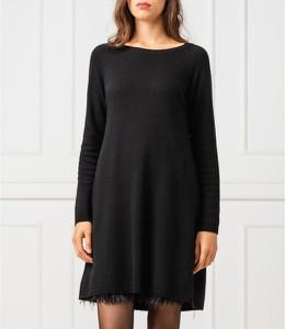 Sukienka Twinset z kaszmiru z długim rękawem z okrągłym dekoltem