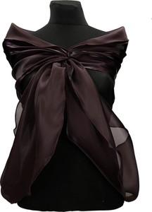 Brązowy szalik Fokus w stylu glamour