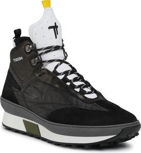 Czarne buty sportowe Togoshi sznurowane