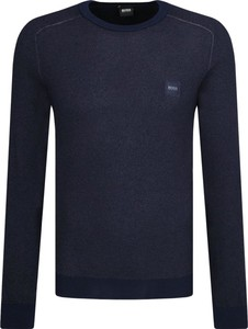 Niebieski sweter BOSS Casual z wełny
