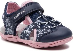 Granatowe buty dziecięce letnie Geox dla dziewczynek