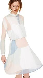 Sukienka Pepe Jeans z długim rękawem z okrągłym dekoltem koszulowa