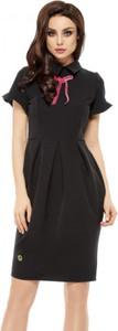 Czarna sukienka Lemoniade z krótkim rękawem