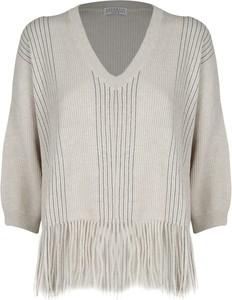 Sweter Brunello Cucinelli z bawełny w stylu boho