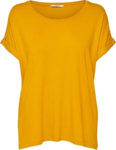 Żółty t-shirt Only z krótkim rękawem