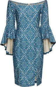 Sukienka bonprix BODYFLIRT boutique z długim rękawem hiszpanka