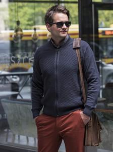 Sweter M. Lasota ze skóry ekologicznej
