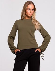 Zielona bluzka MOE w stylu casual