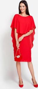 Sukienka Molton midi z okrągłym dekoltem