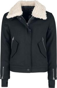 Czarna kurtka Emp z wełny