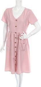 Sukienka Moking Top z krótkim rękawem z dekoltem w kształcie litery v