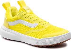Żółte trampki Vans sznurowane
