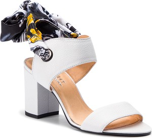 Sandały Eksbut ze skóry w stylu casual na obcasie