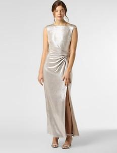 Złota sukienka Ralph Lauren bez rękawów maxi prosta