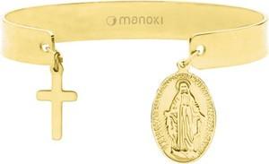 Manoki BA752G bransoletka złota medalik krzyż
